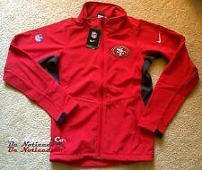 Nike Men's San Francisco 49ers Football Sphere Hybrid Jacket S Red Full Zip New