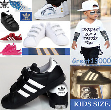 NEW KIDS ADIDAS ORIGINALS COURT STAR C BLACK TRAINERS, SHOES TODDLERS BABIES