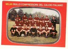 Cartolina Milan Rullo Compressore Del Calcio Italiano 1975