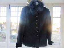 e00ffdfbd5c8b NEW designer House Of Bruar Ladies grey wool suit size 42 (14)fur collar