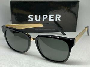 Retrosuperfuture 348 People Francis Black Gold Frame Size 53mm Sunglasses NIB