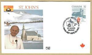 Ersttagsbrief FDC Papst Johannes Paul II - St. John's Kanada 1984