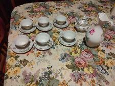 tazzine da caffe antico Bavaria in porcellana  tazze tazzine oro e fiori