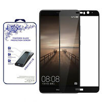 For Huawei Mate 9 Premium HD [Tempered Glass] Screen Protector [Black]