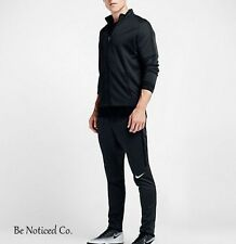 Nike Dry Strike Men's Football Soccer Track Pants L Black White Gym Casual New