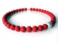 A Sign *Lady in Red N°1*Kette Polaris/Harz Gala Sweet Kugel gebürstet rot/silber