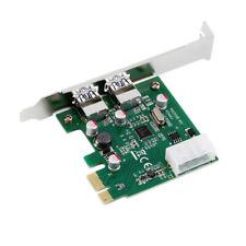 USB 3.0 PCI-E 2 Port Card 5Gbps PCI Express HUB Adapter for Desktop Computer