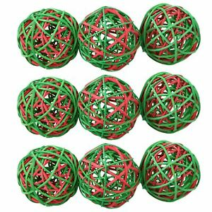 Small Animals Christmas Gift Festive Weave-a-Balls Ratten Balls Toy