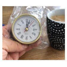 """Classic Clock Craft Quartz Movement 2-1/2"""" (65mm) Round Head Insert Number Roman"""