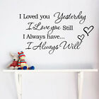 Removable Art Vinyl Wall Sticker Decal Mural Home Room Decor Quote Word DIY