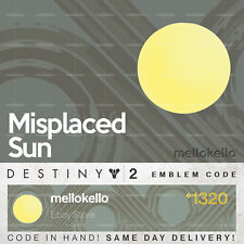Destiny 2 Misplaced Sun emblem IN HAND!! FAST DELIVERY!!!