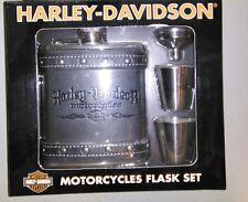 harley davidson flask gift set