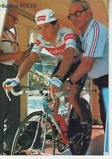 CYCLISME carte cycliste STEPHEN ROCHE contre TOUR DE FRANCE du 10/07/87