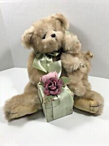 The Bearington Collection Mother Hugs Baby Snugs Large Plush Teddy Bear Gift Box