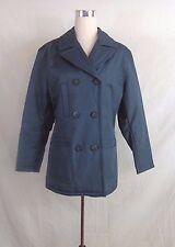 Jones New York  All-Weather Coat Jacket Womens M Medium GRAY/AQUA