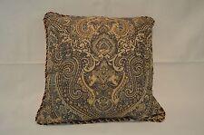Croscill ZARINA 18 x18 Square Decorative Pillow Blue, Maroon, Beige
