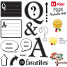 Questions & Answers Stamps, Speech Bubbles, Who, What, Where, When, Hampton Art