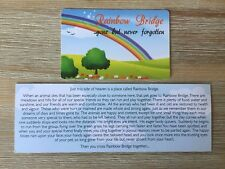 Rainbow Bridge Pet Poem Card or Bookmark Loss Dog Cat Sympathy Memorial Keepsake