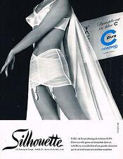 PUBLICITE ADVERTISING 094  1965  SILHOUETTE  gaine ELURA SYMPHONIE IN BLUE