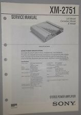 Sony Car Stereo Power Amplifier XM-2751 OEM Service Manual