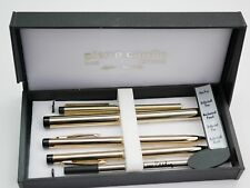 Pierre Cardin Gold Pen Pencil Set in Box 3 Pens 1 Pencil All Working