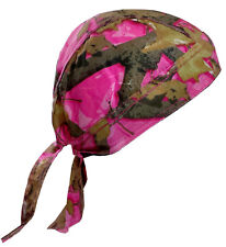 Pink Camouflage Leaf Bandana Headscarf Adjustable Do Rag Cap Pink Camo Hunting
