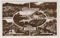 Dorset postcard - Bournemouth Gardens (Multiview showing 5 views) - RP (A248)