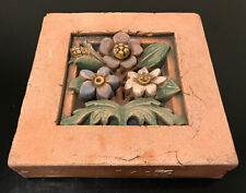 New listing Vintage Arts & Crafts Gothic Ellison Pottery Block Tile 5.75�