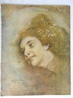 Young Woman Portrait Jugend Magazine 1900 Issue 4 Jugenstil Art Nouveau graphics