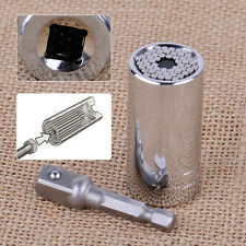 7-19mm Steel Car Auto Socket Wrench Spanner Grip Sleeve Power Drill Adapter Tool
