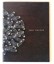 2003 Lincoln Dealer Sales Brochure Aviator Town Car LS Navigator 38 Pages Mint