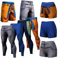 Men Dragon Ball Z Son Goku Vegeta Shorts Women Pants Long Trousers Cycling GYM