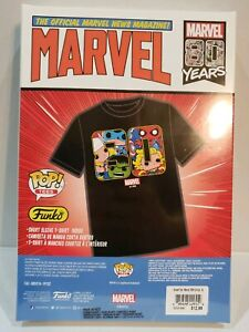 Marvel 80 Years Unisex T-Shirt XL Target Limited Edition By Funko Avengers Box