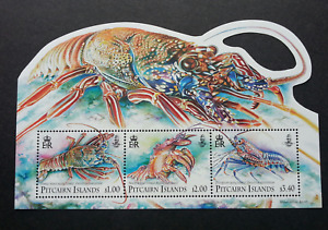 [SJ] Pitcairn Islands Lobsters 2013 Marine Life Ocean (ms) MNH *odd shape