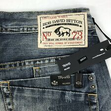BUFFALO Travis Relaxed Jeans Mens 30x34 Distressed 'Soft and Veined'