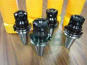 "CAT40-ER25 COLLET CHUCK W. 2.76"" GAGE LENGTH---4 CHUCKS--new   Tool Holder Set"