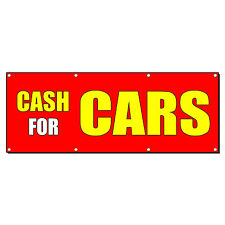Cash For Cars Car Body Shop Repair Business Sign Banner 4 X 2 With 4 Grommets