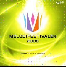 2 CD Melodifestivalen 2008, schwedisch, Eurovision,Pre-Selection Sweden Schweden