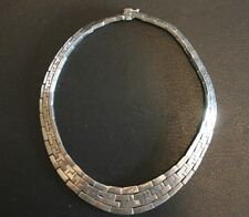 Vintage Los Ballesteros Heavy Sterling Silver Necklace 925 Mexico