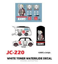 JC-9220 White Toner Waterslide Decals > For Custom 1:64 Hot Wheels