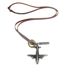Satz Von Halskette Damen Mode Schmuck Leder Seil mit Flugzeug Stil Anhänger