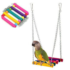 Pet Bird Parrot Parakeet Budgie Cockatiel Cage Hammock Swing Toy Hanging Gifts