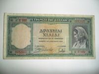 BANCONOTA 1000 DRACME GRECIA 1939