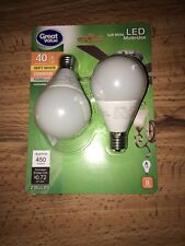 GE 74040 60-Watt 550-Lumen Decorative A15 Incandescent Light Bulb 2-Pack Soft White