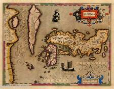 Giappone-Nihon/Nippon-mappa rame-Copper ENGRAVING-MAP Mercatore Hondius 1609