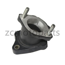 Intake Manifold Pipe with Air Injection Chrome Clamp for 250cc CF250 Water Cooled Go Kart Moped Scooter ATV Quad Bike