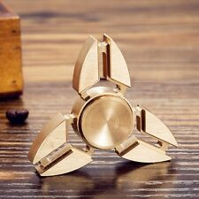 UK Tri Fidget Hand Spinner Triangle Torqbar Finger Toy EDC Focus Autism ADHD KM