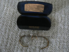 Rare Vintage Old Round Prescription Glasses With Hard Case Great Condition 1943