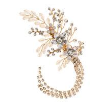 Retro Flower Wedding Hair Pin Bridesmaid Crystal Tassel Bridal Clip Barrette