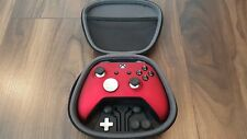 Custom Red Elite Magnetic Black Xbox One S Controller Soft Shell With Case